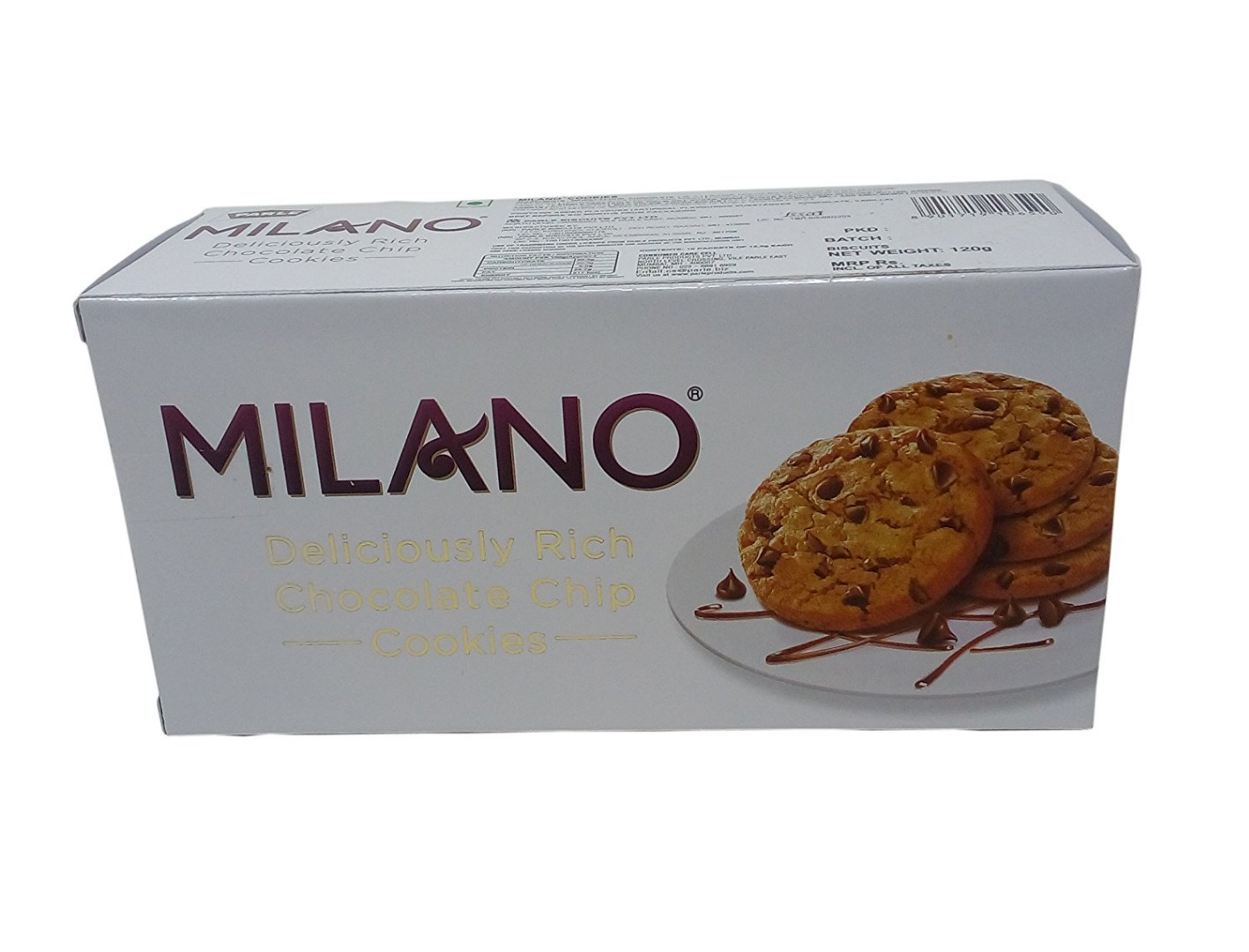 Parle Milano Cookies - Chocolate Chip  120g Carton
