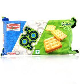 Britannia 50-50 Sweet  & Salty Biscuits 200gm