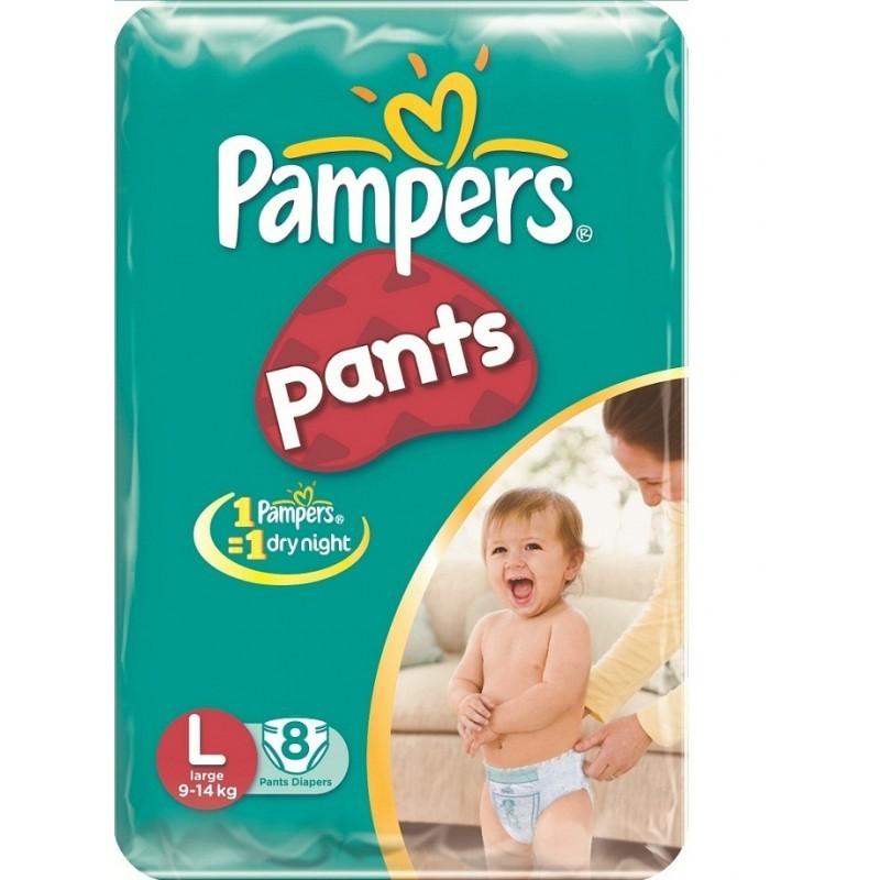 PAMPERS PANTS LARGE 8PCS