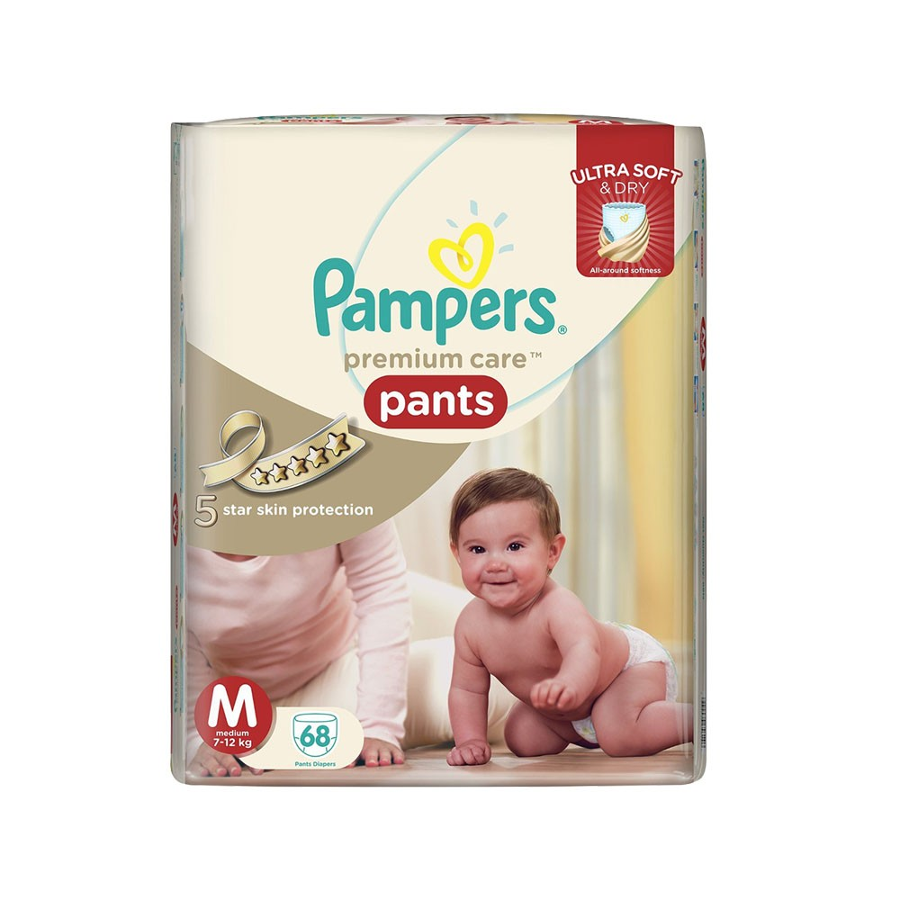 PAMPERS PANTS MEDIUM 68PCS