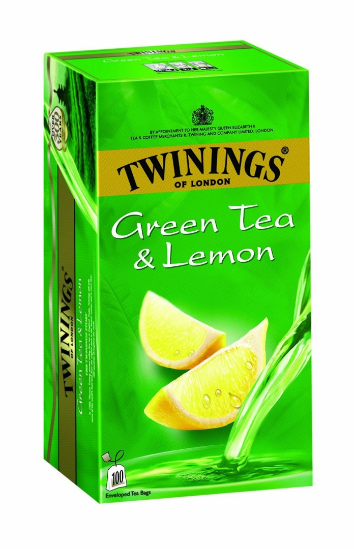 TWININGS GREEN TE LEMO 100BAG