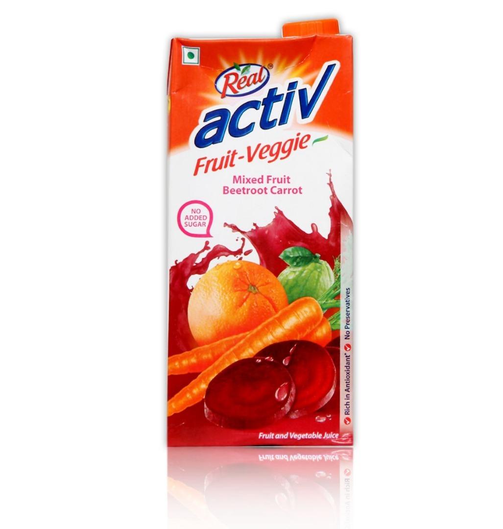 Real Activ Fruit Veggie Juice  Beetroot Carrot  1L