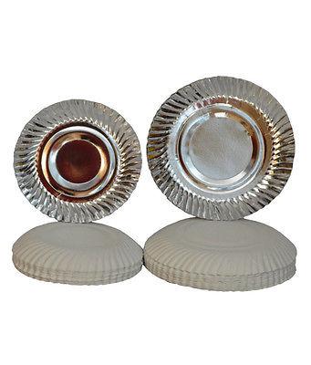Disposable silver paper plate 9 no.-40Pcs