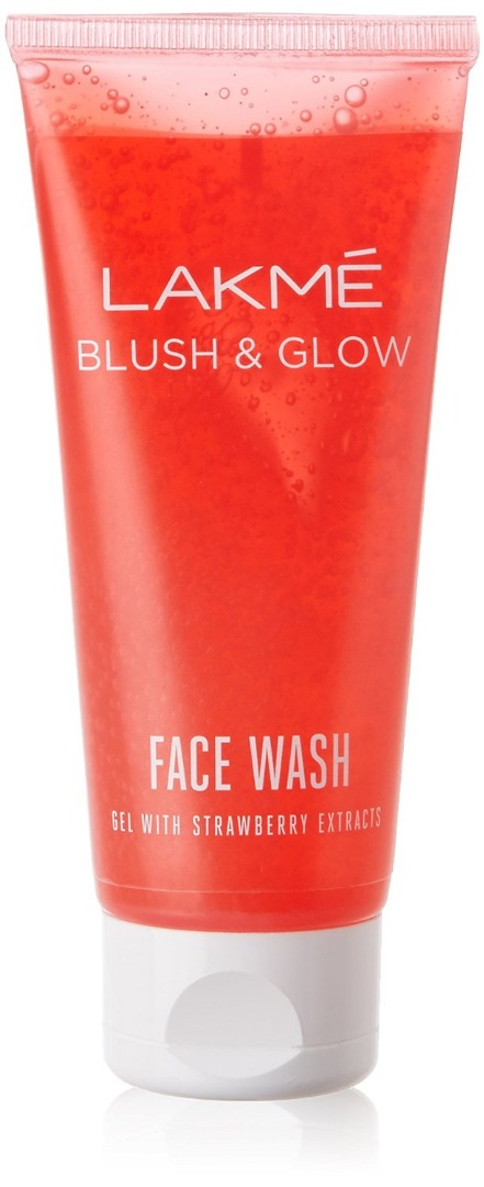 Lakme Blush  & Glow Strawberry Gel Face Wash 100 g