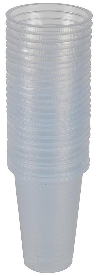 Disposable Plastic Glasses (250ml)-25 Pcs