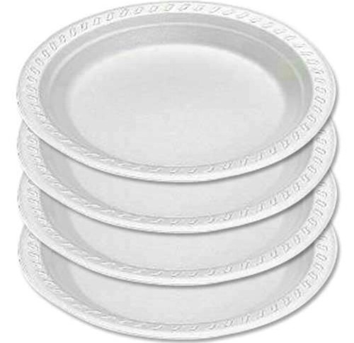 Disposable Thermocol Plates 12 Inches- Plain