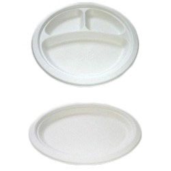 Disposable Thermocol Dishes 12 Inches- Plain- 25Pcs