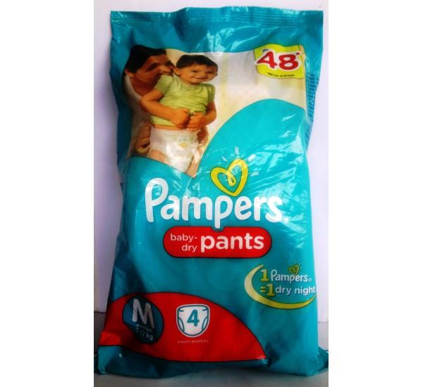 PAMPERS PANTS MEDIUM 4PCS
