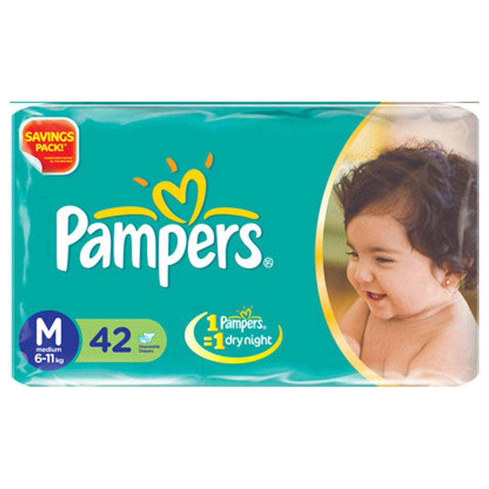 PAMPERS PANTS MEDIUM 42PCS