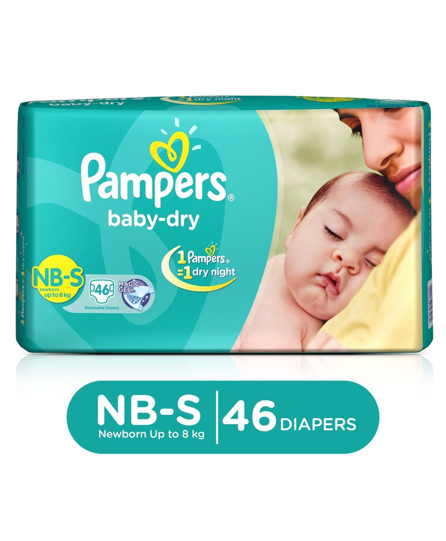 PAMPERS NB-S 8KG UP TO 46P