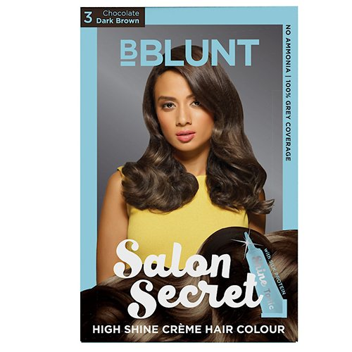 BBLUNT Salon Secret High Shine Creme Hair Colour  Dark Brown 3  100g