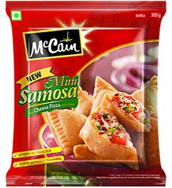 MCC MINI SAMOSA CHEESE PIZZA 240G