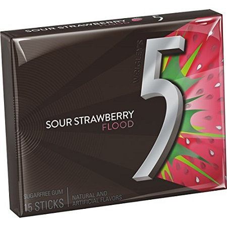 WRIGLEYS SOUR STRAWBERRY 15PC