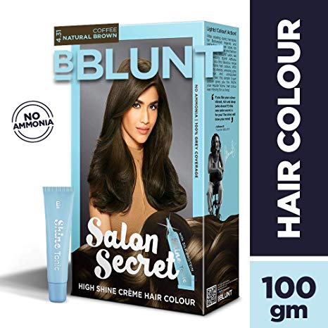 BBLUNT Salon Secret High Shine Creme Hair Colour  Natural Brown 4.31  100g