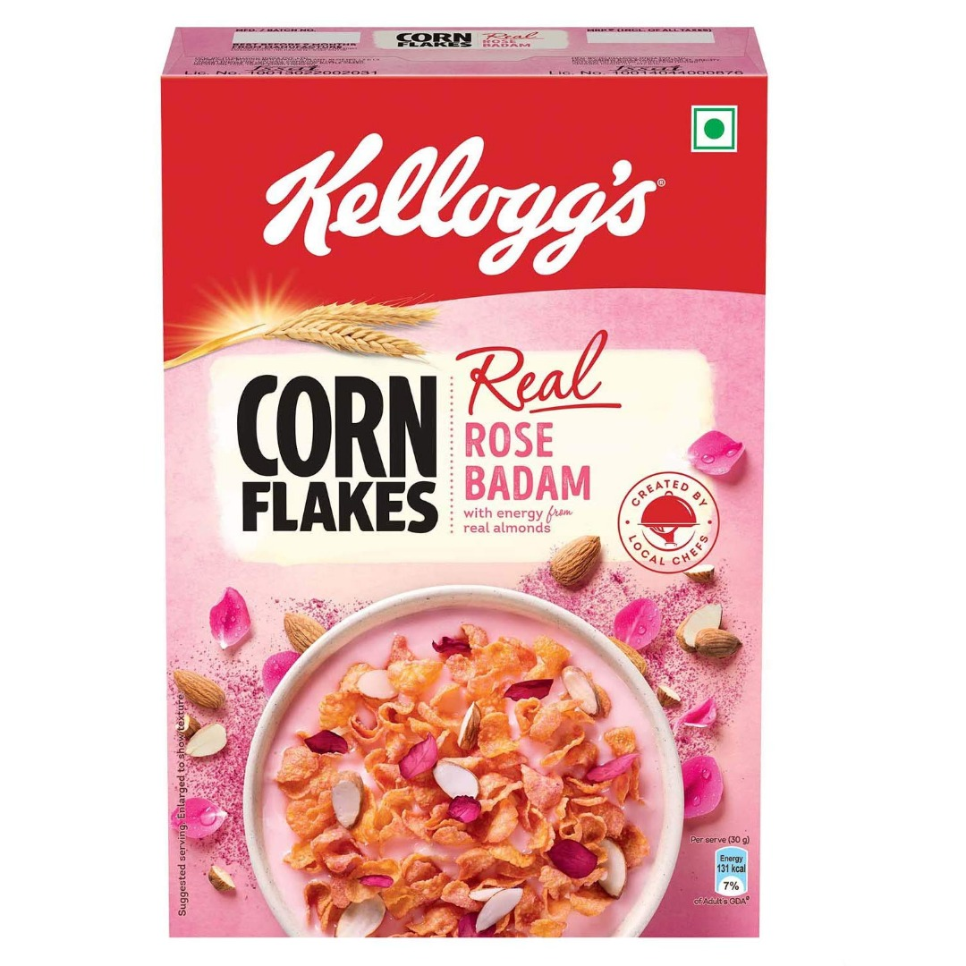 Kellogg's Corn Flakes Real Rose Badaam Pouch, 280g