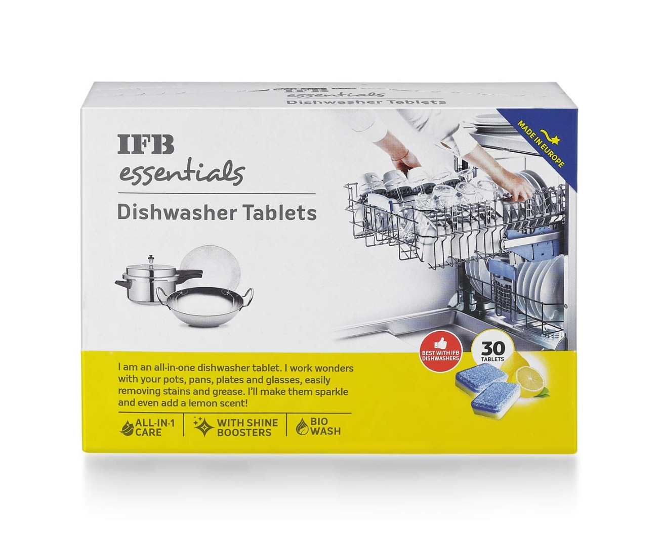 IFB ESSENTIALS DISHWASHER TABLETS'