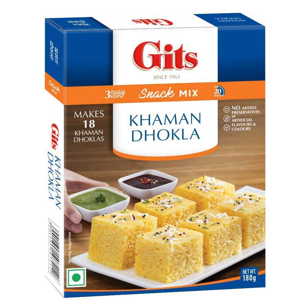 Gits Instant Khaman Dhokla Snack Mix, 180g