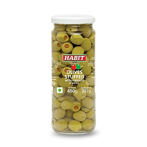 Habit Green Stuffed Olives with Pimento, 450g