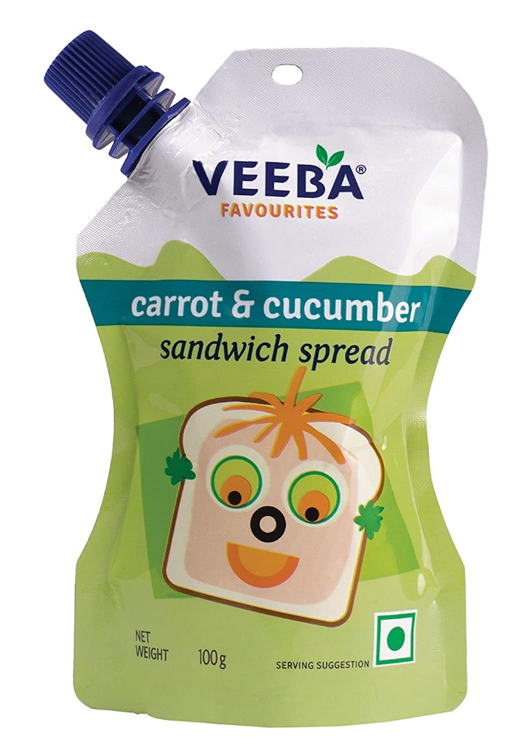 Veeba Carrot and Cucumber Sandwich Spread, 100g