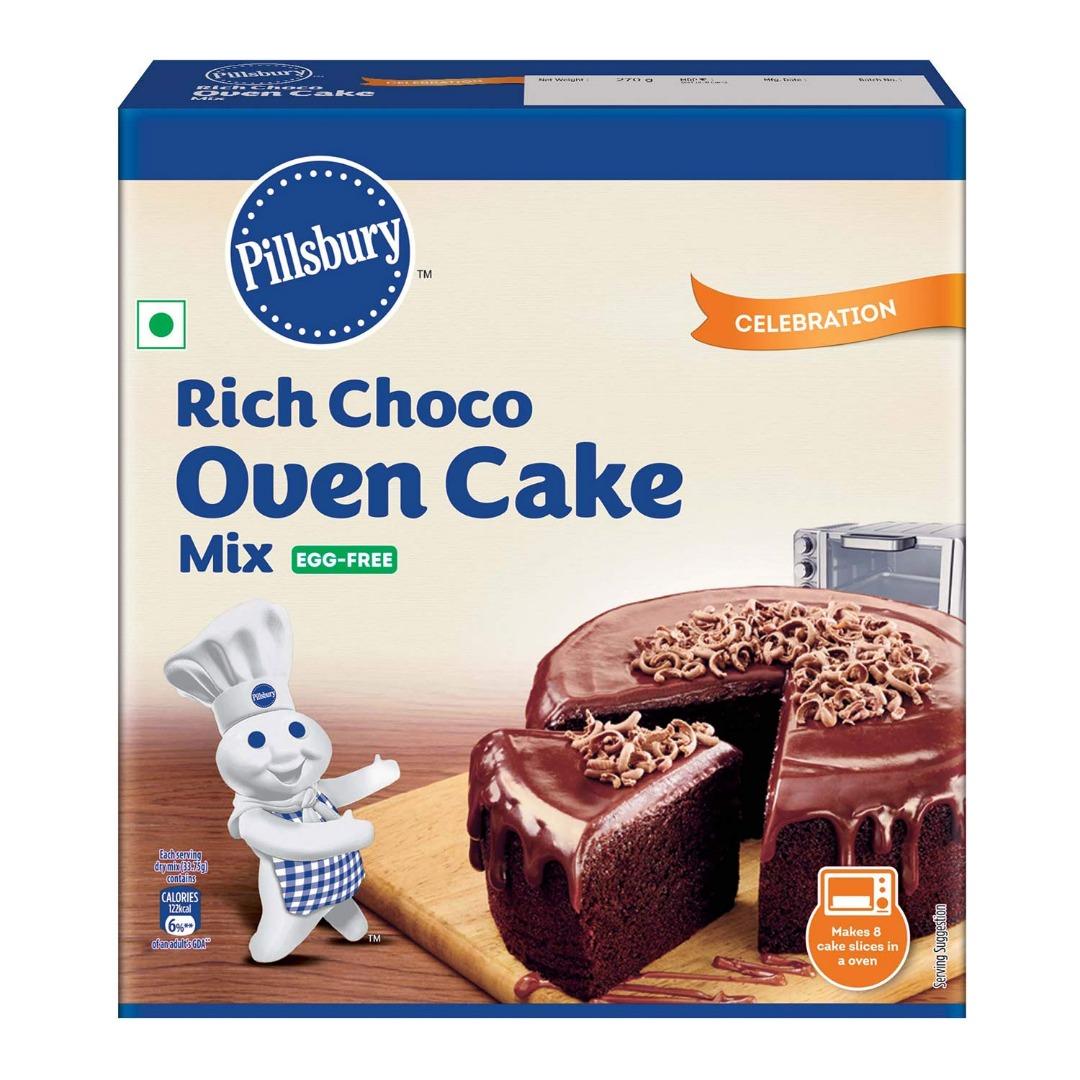 Pillsbury Oven Cake Mix, Rich Choco (Egg Free), 270 gm