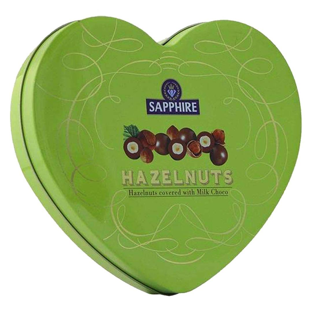 Sapphire Heart Tin Hazelnut, 160 g