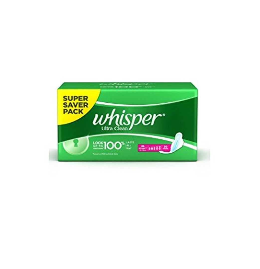 Whisper Ultra Clean Wings Sanitary Pads (XL 30)