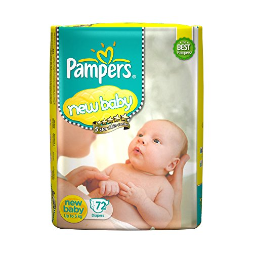 PAMPERS NEW BABY 72PCS