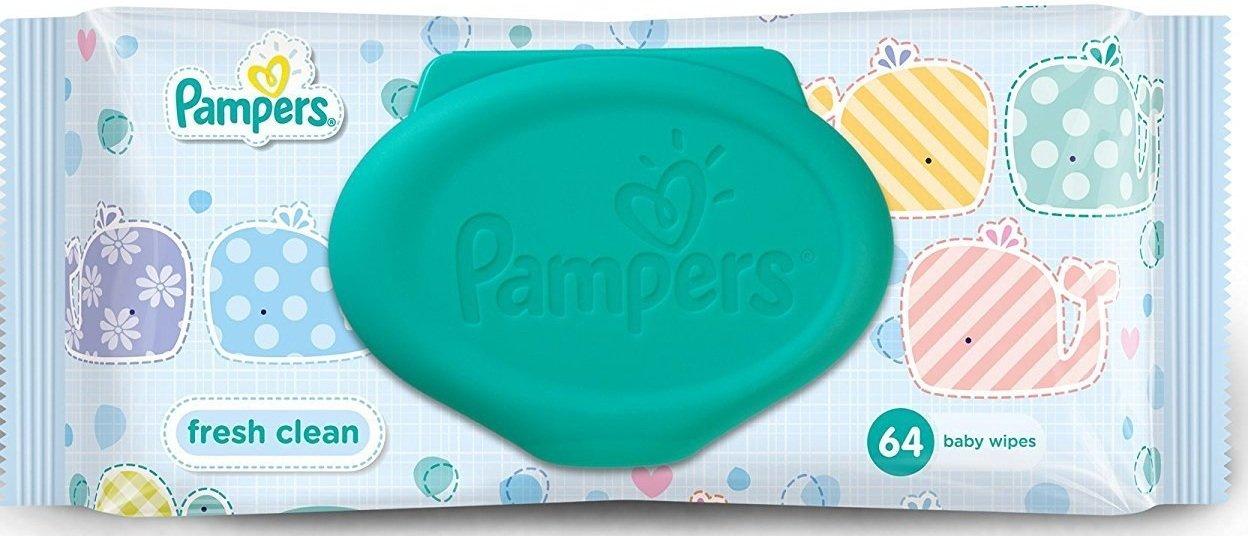 Pamper Fresh Clean Baby Wipes 64 WIPES