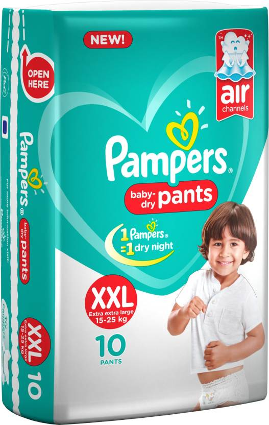 PAMPERS BABY DRY XXL 15-25 10 PC