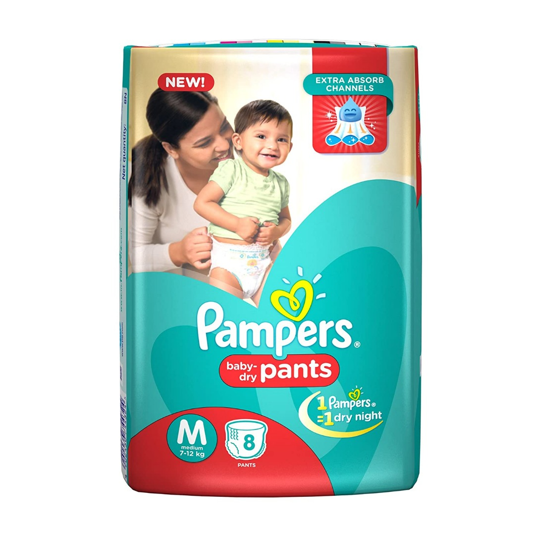 PAMPERS PANTS MEDIUM 8PCS