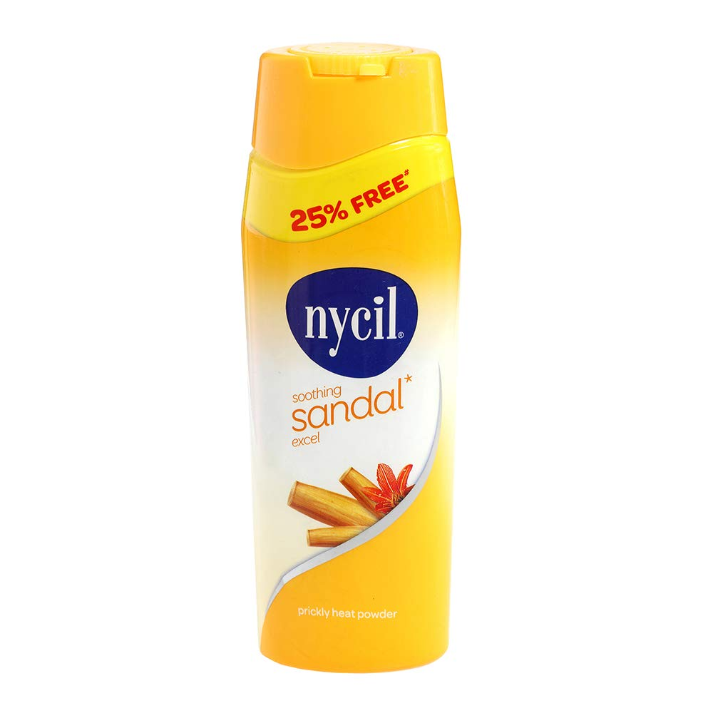 Nycil Prickly Heat Powder - Cooling Sandal Excel, 150g Bottle