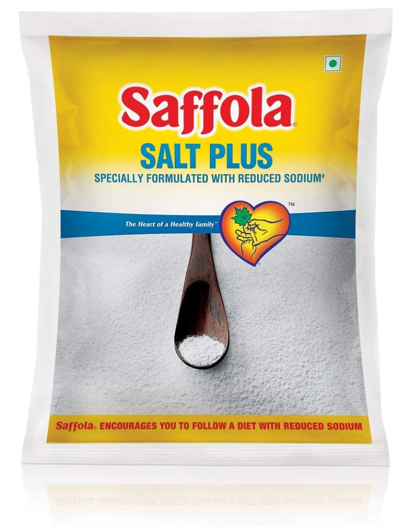 Saffola Salt Plus, Less Sodium, 1kg Pack