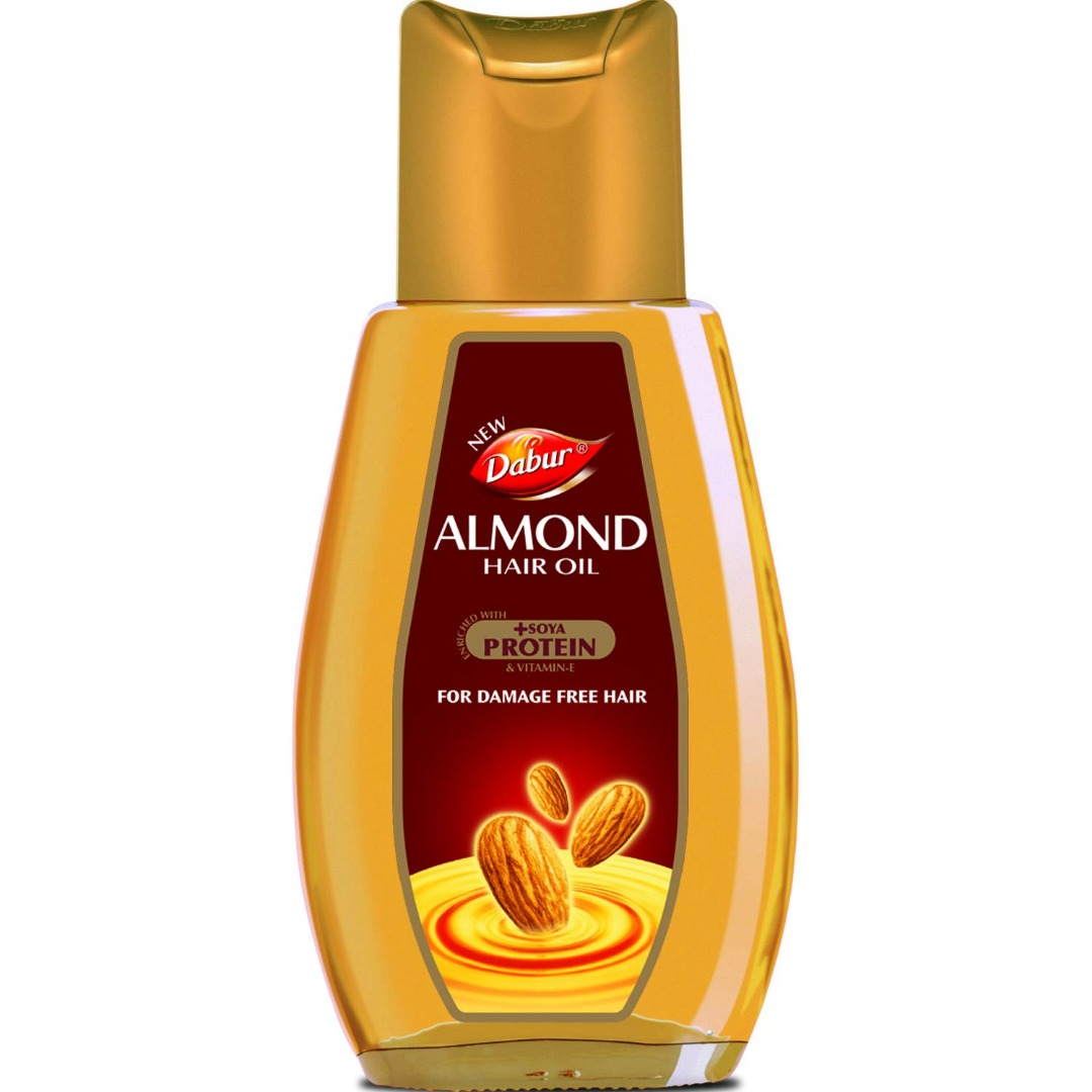 Dabur Almond Hair Oil - with Almond, Vitamin E and Soya Protein - 200 ml
