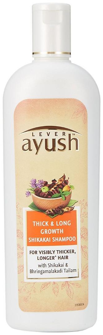 Ayush Lever Thick and Long Growth Shikakai Shampoo (330ml)