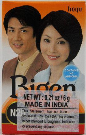 Bigen Powder Hair Color, Black Brown N20 (6g)