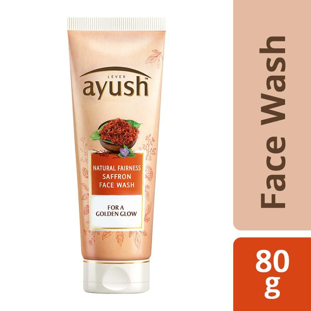 Lever Ayush Natural Saffron Face Wash 80 g