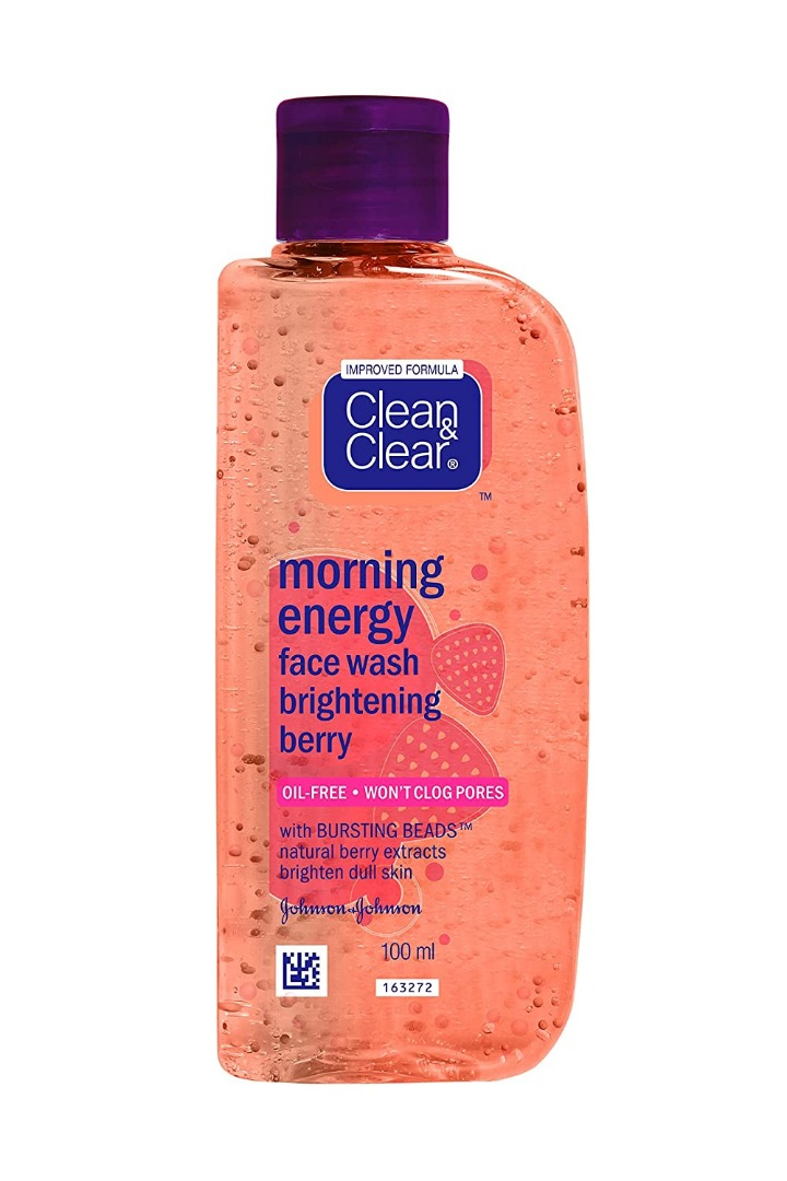 Clean & Clear Morning Energy Berry Face Wash, 100ml