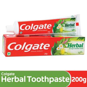 Colgate Herbal Toothpaste, Goodness of Natural Ingredients for Healthy Teeth, 200g
