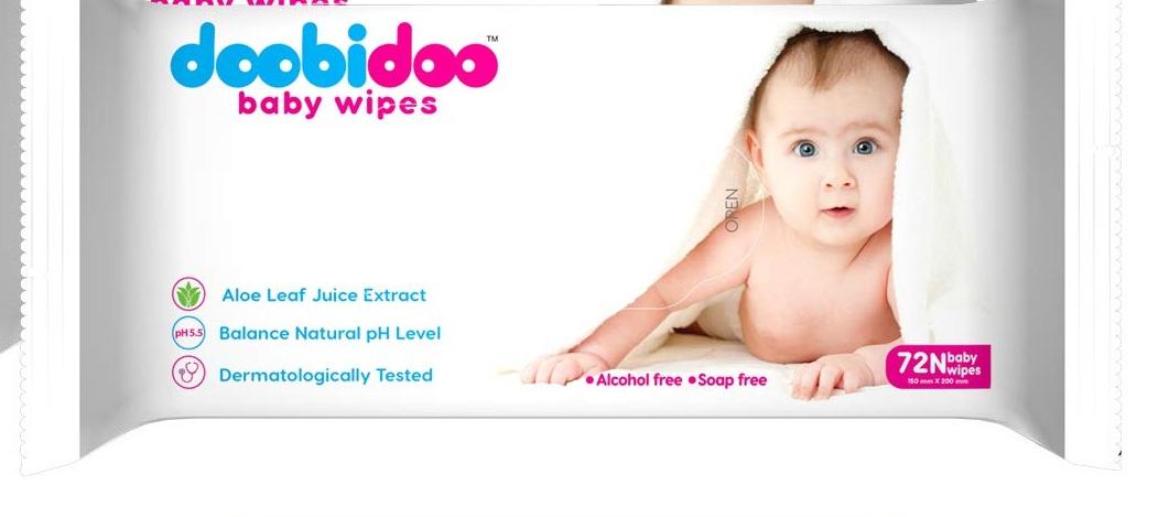 DOOBI DOO BABY WIPES 150X200 72 NOS