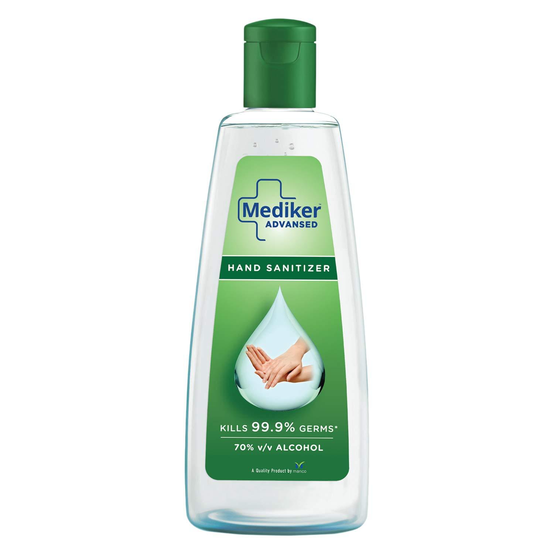 Mediker Hand Sanitizer,70 % Alcohol Based Sanitizer,200 ml
