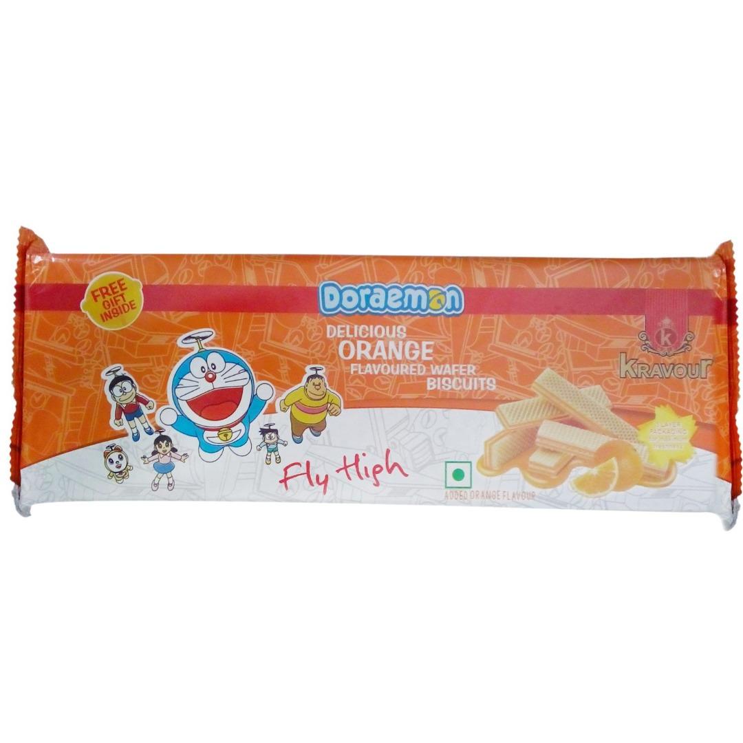 Kravour Wafer Biscuits - Orange, 150g Pack