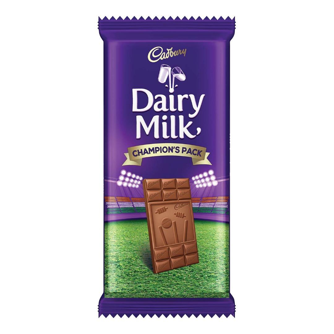 Cadbury Dairy Milk Chocolate Bar Champion Pack, 130 g