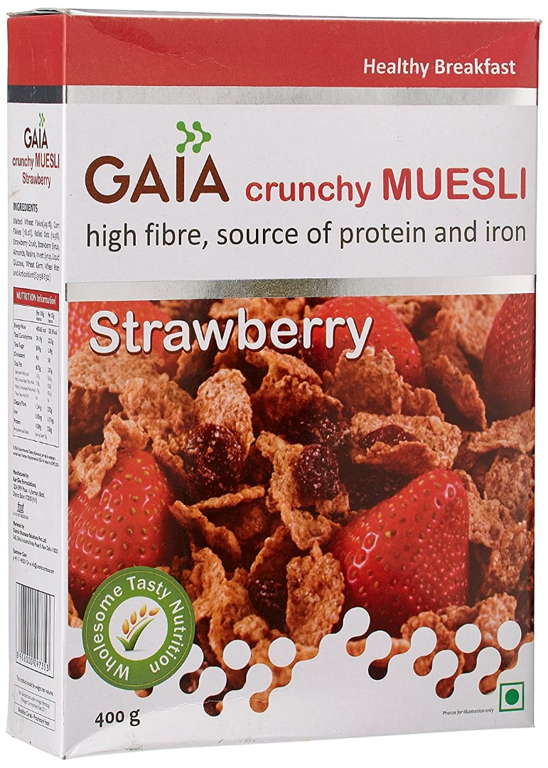 Gaia Muesli Strawberry 400 gm