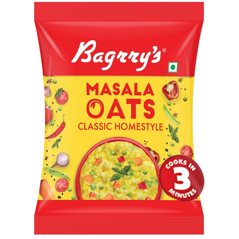 BAGRRY'S MASALA OATS HOME STYLE 40GM