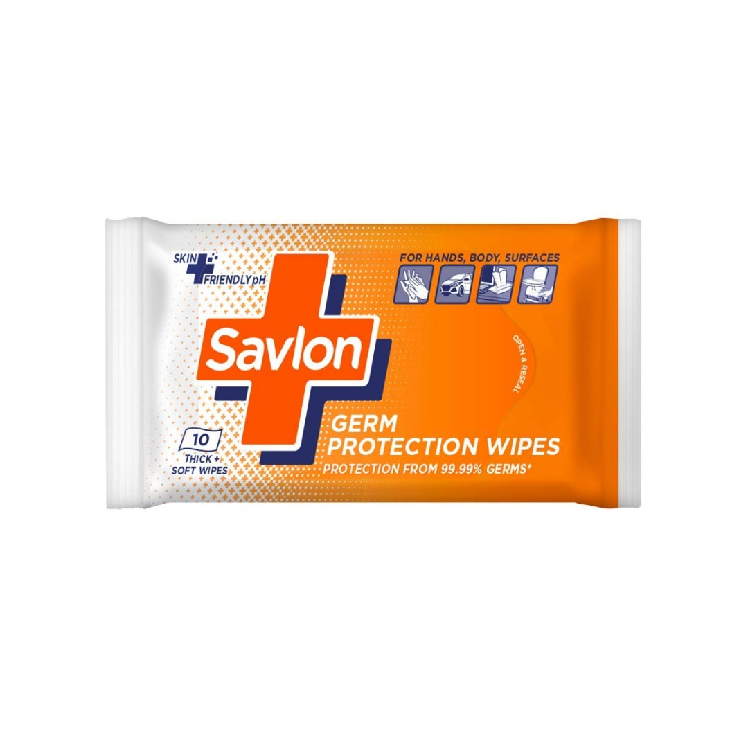 SAVLON GERM PROTECTION WIPES 10PIC