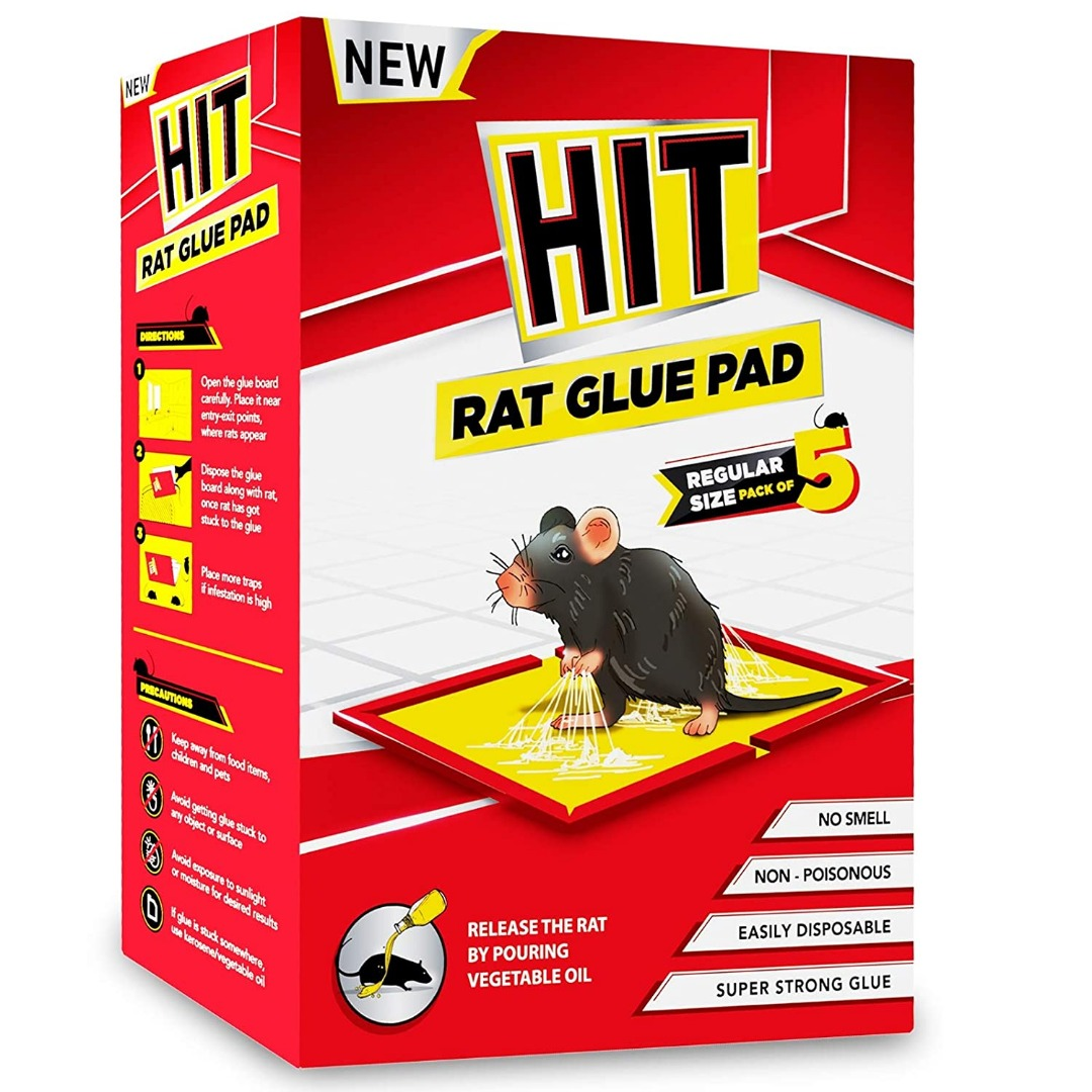 HIT Rat/Mouse Glue Pad - No Smell, Non – Poisonous, Easy to Use