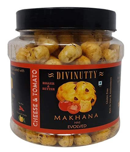 Divinutty Makhana - Cheese and Tomato, 90g Jar