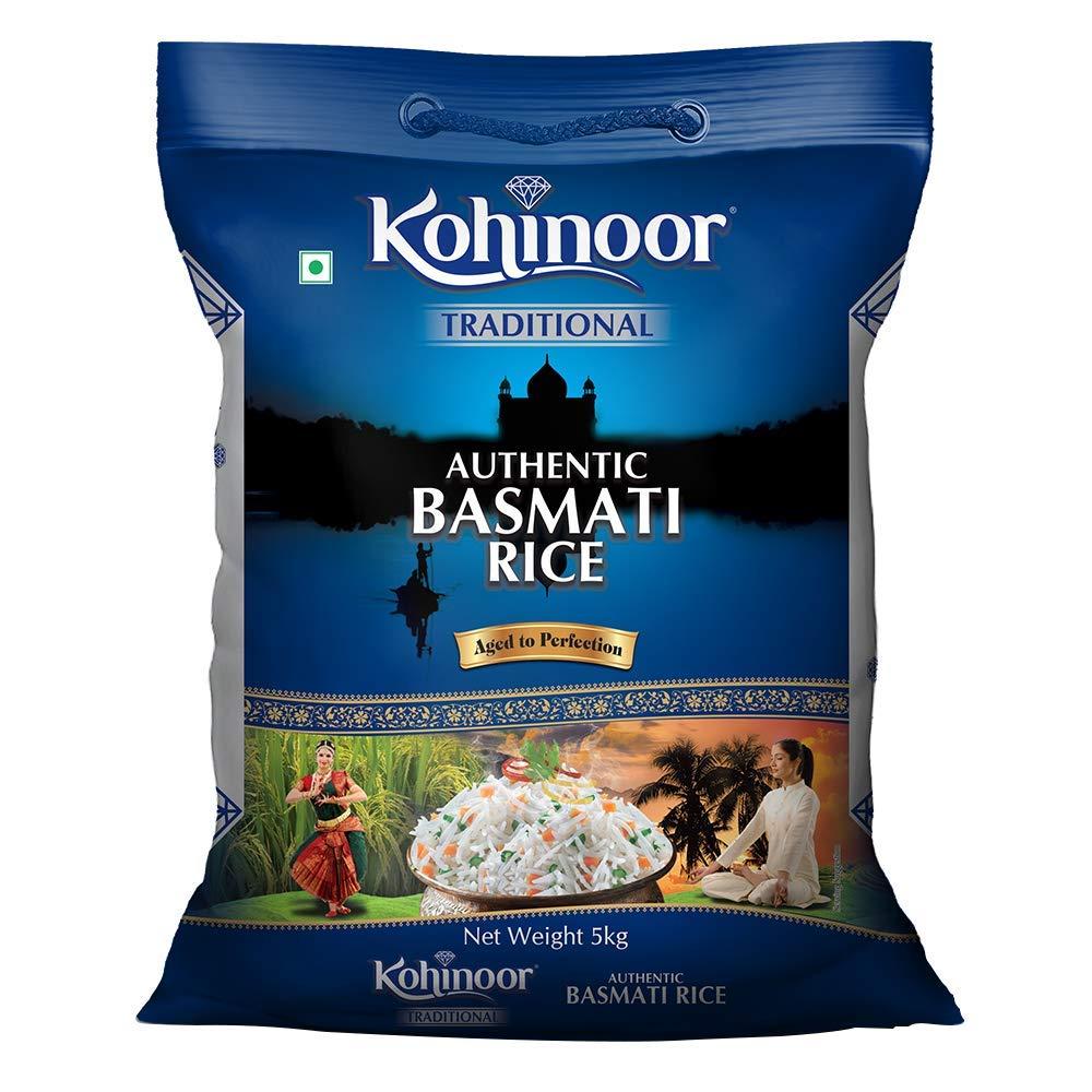 Kohinoor Traditional Authentic Basmati Rice, 5 kg