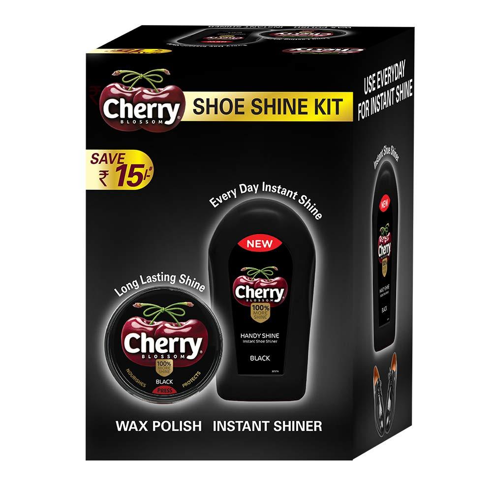 CHERRY BLOSSOM BLACK SHOE KIT