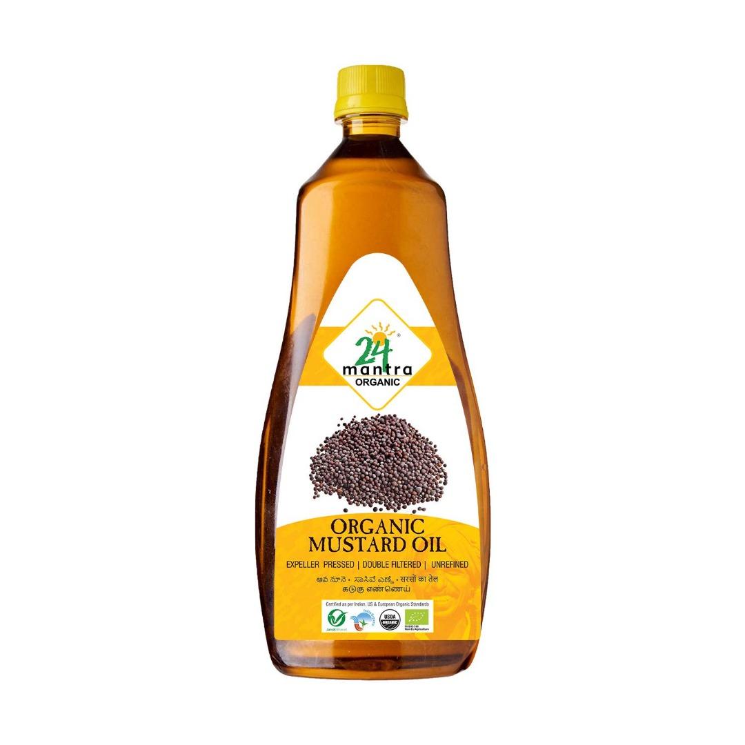 24 Mantra Organic – Cold Pressed Mustard Oil, 1L